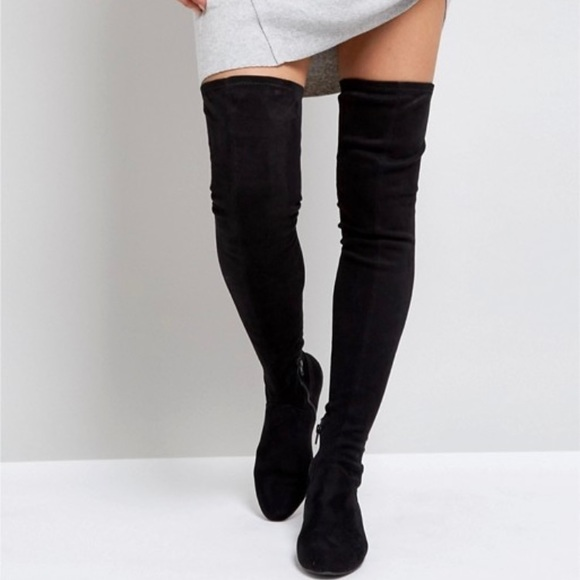 368331f2231 ASOS Shoes - ASOS Black Thigh High Boots